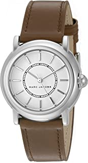 Marc Jacobs Courtney Women'S White Dial Leather Band Watch - Mj1448,