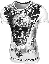 Baxboy JA-2312 Vintage T-shirt met doodshoofd met ...