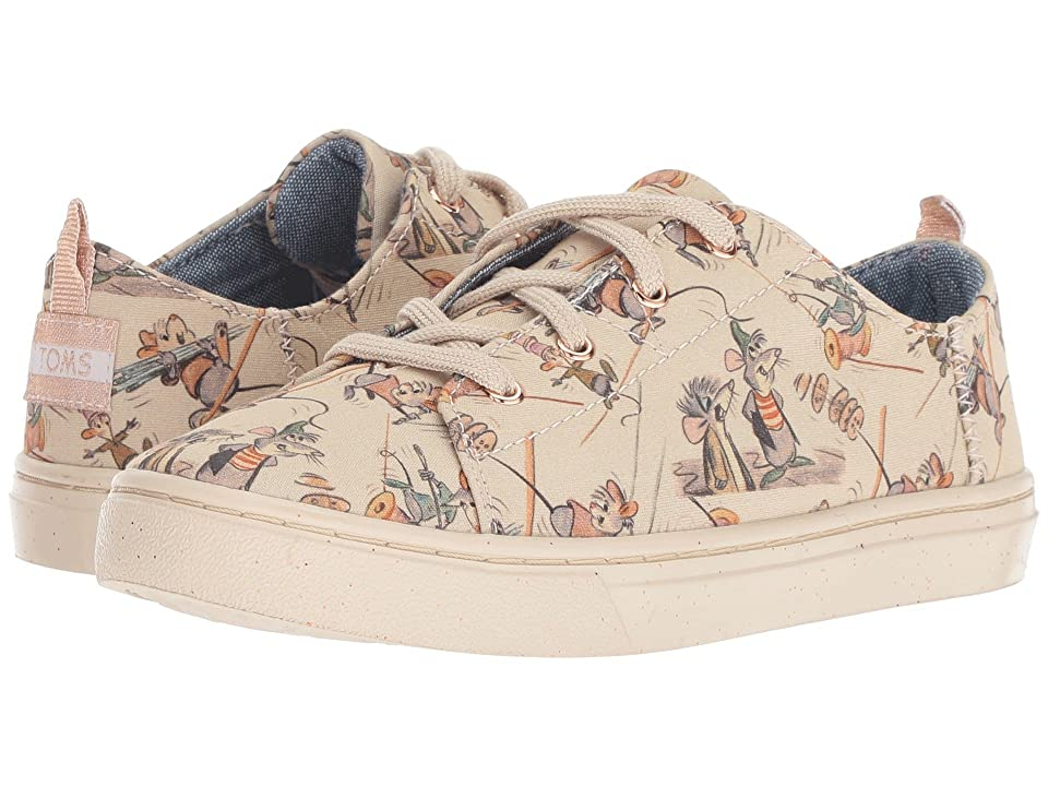 TOMS Kids Lenny Disney(r) Princesses (Little Kid/Big Kid) (Taupe Gus & Jaq Printed Canvas) Girl