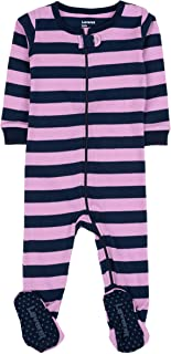 """Footed""""Striped Baby Girl"""" Variety Pajama Sleeper 100% Cotton (Size 6M-5T)"""