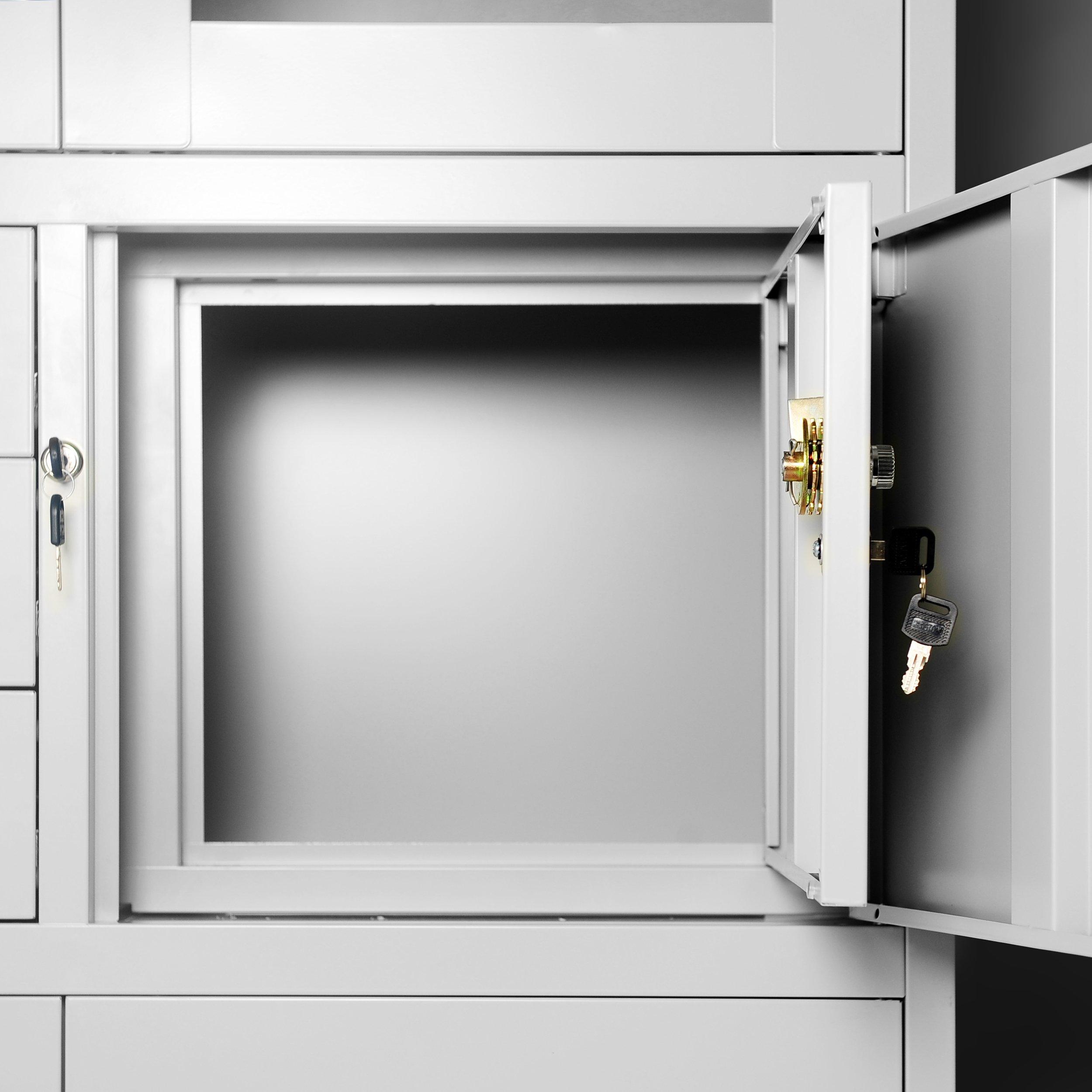 Archivador C18S, mueble de oficina con caja de seguridad, puertas ...