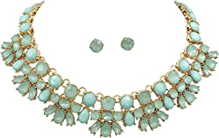 Gypsy Jewels Abstract Bib Statement Boutique Necklace & Earrings Set