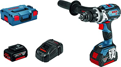 Bosch Professional GSB 18V-85 C - Taladro percutor a batería (2 baterías x 5.0 Ah, 18 V, 110 Nm, Ø max. tornillo 12mm, conectable, en L-BOXX)