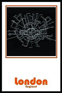 London England Subway Map Wall Art Decor by Urban Map