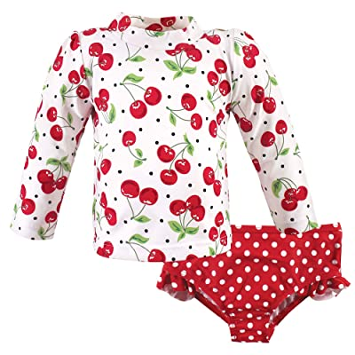 Hudson Baby Hudson Baby Unisex Baby Swim Rashguard Set, Cherries, 3-6 Months