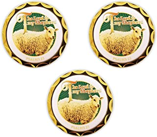 Psalm 23, Bulk Pack of 3 Memory Verse Tokens of Faith, Handout for Sunday School and Bible Study, Gold Plated Challenge Co...