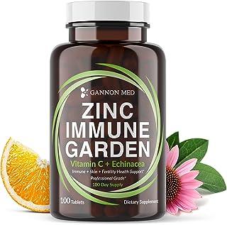 Sponsored Ad - Zinc Immune Garden - Chelated Zinc AAC 50mg - Vitamin C 800mg - Echinacea 600mg per Tablet - 100 Day Supply...