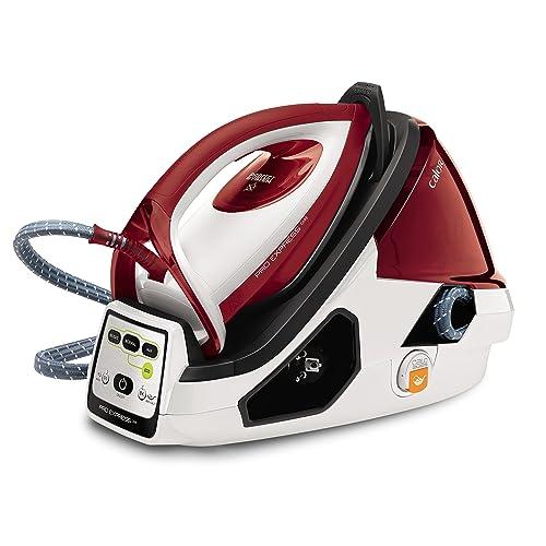 Calor GV9061C0 Centrale Vapeur Haute Pression Pro Express Care 7 bars Effet Pressing jusqu'à 480g/min 3 Réglages Automatiques 2400W Générateur Repassage Blanc et Rouge