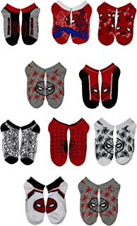 Marvel, Spiderman Boys Assorted 10-Pack Athletic Low Cut No Show Socks, Youth Ages 3-7 (Spiderman V3)