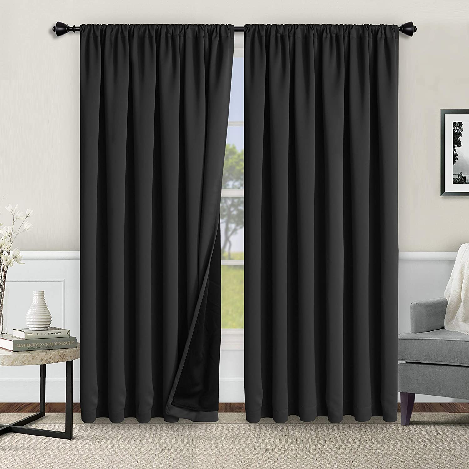 WONTEX 100% Thermal Blackout Curtains - Winter Max 72% OFF Max 89% OFF Insul for Bedroom