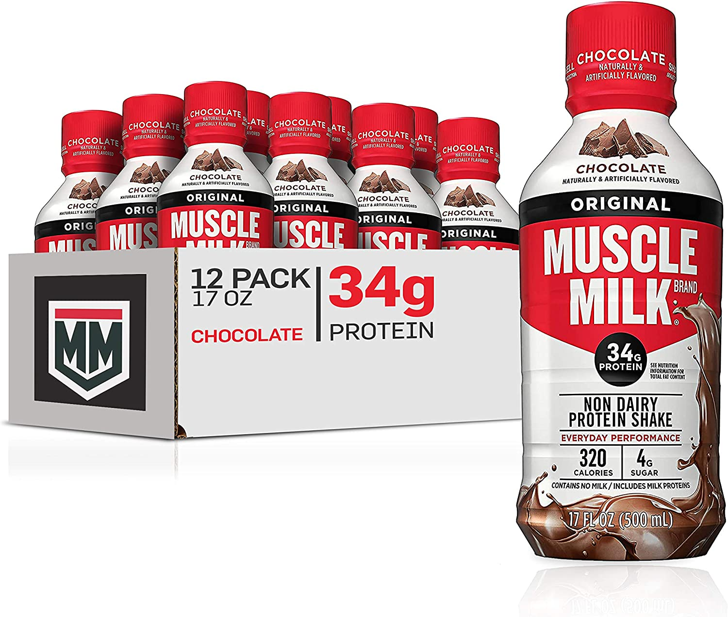 Muscle Milk Outlet SALE Original Protein Shake Inexpensive Chocolate 17 34g F