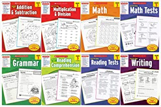 Scholastic Success With - Grade 3 Complete Set (8 books): Addition&Subtraction 3, Multiplication&Division 3, Math 3, Math Tests 3, Grammar 3, Reading Comprehension 3, Reading Tests 3 and Writing 3