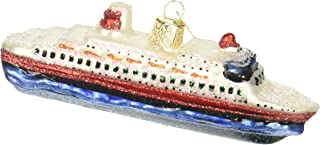 Old World Christmas Ornaments: Cities, Places and Landmarks Glass Blown Ornaments for Christmas Tree, Cruise Ship