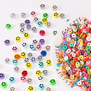 Necklace And Bracelet Making Smiley Face Beads 10mm Emoji Beads Jewelry Supplies Cute Spacer Beads Acrylic Happy Face