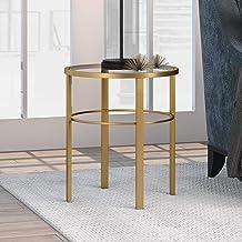 طاولة جانبية من Henn&Hart لغرفة المعيشة/غرفة النوم/المكتب ذهبي