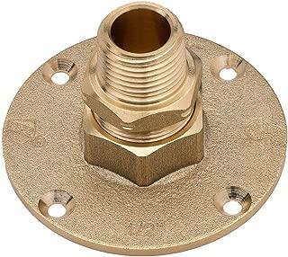 HomeFlex 11-464-005 1/2-Inch Brass Corrugated Stainless Steel Tubing  x MIPT Termination Flange