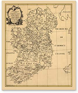 Vintage Map of Ireland ca1795, 14