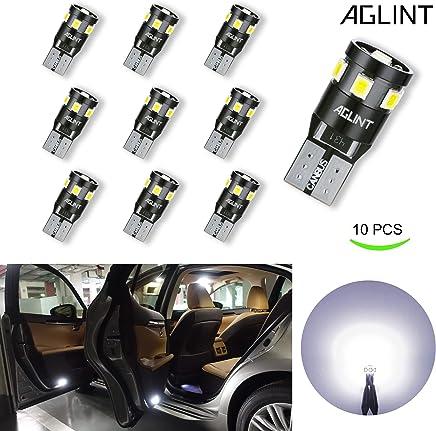 AGLINT T10 W5W CANBUS Coche LED Bombillas 12V 6000K 194 168 2825 Para Coches Luces De