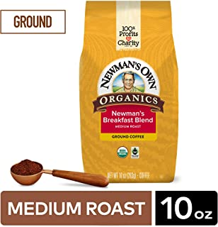 Newman's Own Organics Ground Coffee Breakfast Blend, 10 Ounce, 1 - Pack