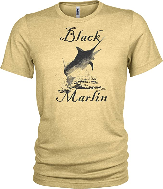 NEW HUK Performance Fishing Marlin Logo T-Shirt Fishing Apparel BLACK SIZE SMALL