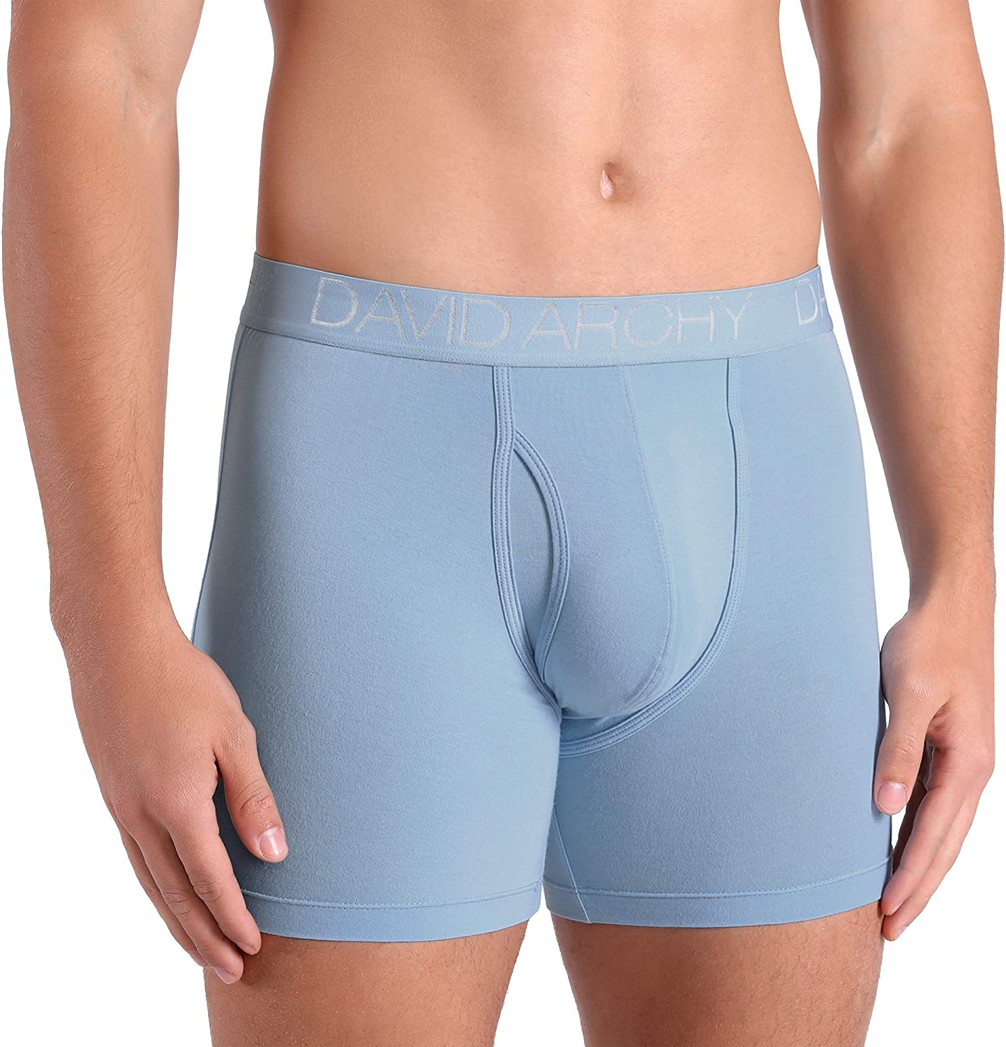 DAVID ARCHY Mens Underwear Breathable Boxer Briefs Bamboo Rayon Trunks in 3 or 4 Pack