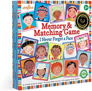 eeBoo's I Never Forget a Face Memory and Matching Game
