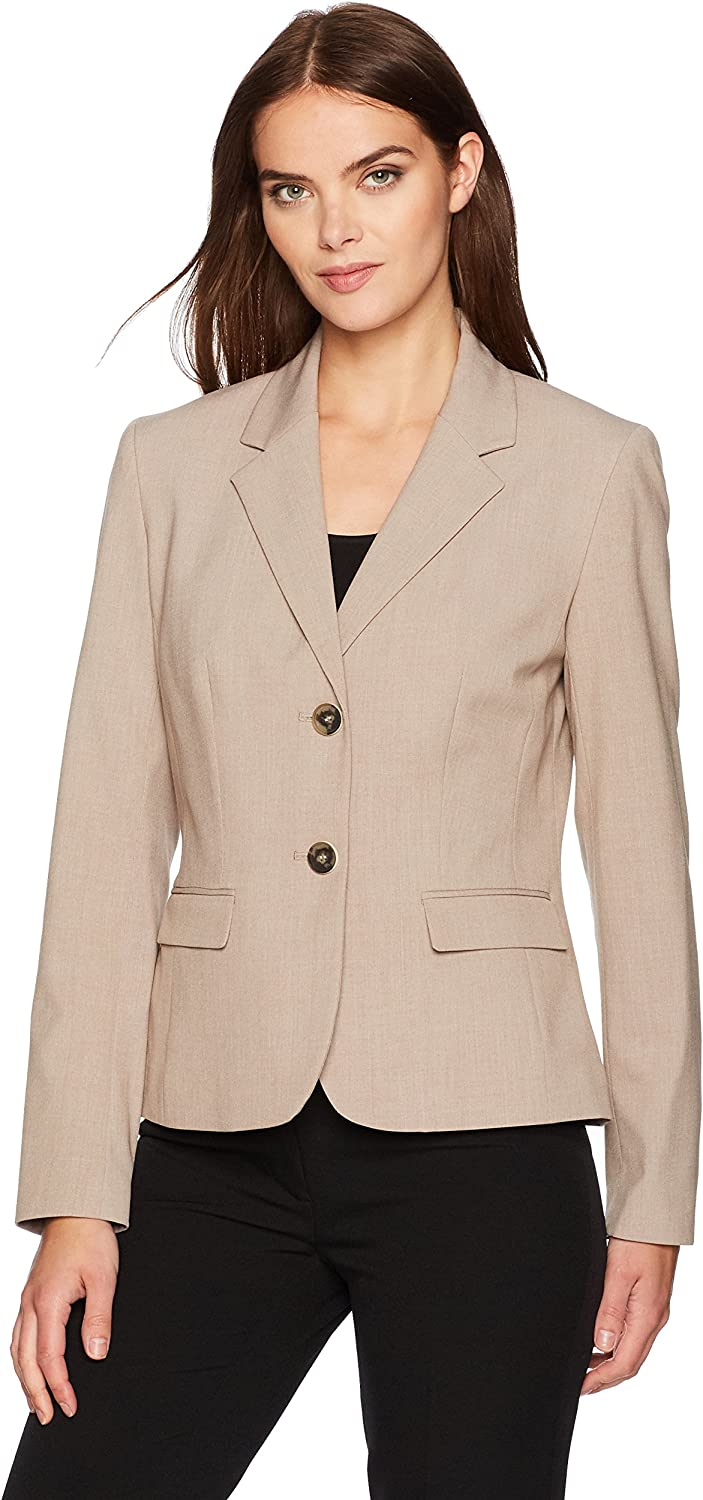 Nine West Womens 2 Button Taylor Stretch Jacket with Notch Collar Jacket