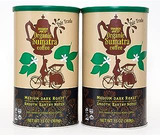 Trader Joes Fair Trade Organic Sumatra Coffee 13 Oz Canisters, Set of 2