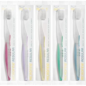 "Nimbus® Microfine® Toothbrush REGULAR size, Pack of 5 ""Colors Vary"""