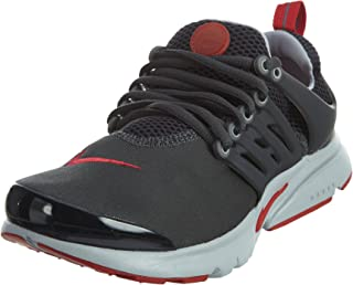 Nike Presto GS Running Shoes Sneaker Dark Gray/red, EU Shoe Size:EUR 36