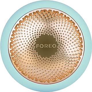 FOREO UFO 智能面膜护理仪,薄荷绿,只需90秒即可完成面膜护理,拥有加热、冷却、LED光疗和声波脉动技术,可连接智能手机app