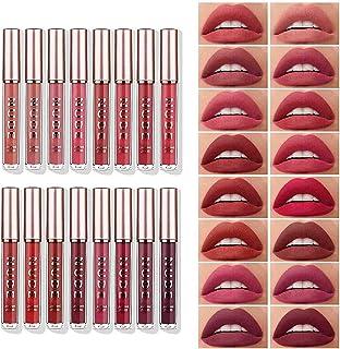 16 Pcs Matte Liquid Lipstick Makeup Set Velvety Liquid Lipstick Long Lasting Durable Nude Lip Gloss Beauty Cosmetics Set for Girls and Women