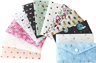 With You Cash Budget Envelopes for Budgeting Cute | 12 Premium Reusable Plastic Cash Envelope System with Snap Button Plus 12 Coin Envelopes and 12 Budget Sheets