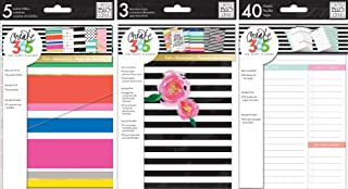 Happy Planner Accessories Set - Decorative Covers, Pocket Folders & Daily Sheets - 3 Item MAMBI Bundle (Mini Happy Planner - 4.5 x 7)
