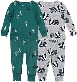 4-Piece Tight Fit Organic Cotton Pajama Set by Mac & Moon...