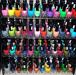 48 Piece Rainbow Colors Glitter CVC Nail Polish Lacquer Set + 3 Scented Nail Polish Remover
