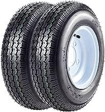 VANACC Trailer Tires 4.8x8 with Rims 4 Lug Trailer Tire 4.80-8 Trailer Wheel and Tire Load Range C,Set of 2