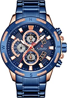 ساعة انفانتري للرجال انالوج كرونوغراف كوارتز وسوار ستانلس ستيل NF9165