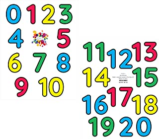 StikArt Number Decals for Preschool, Pre-K and Kindergarten Classrooms, 0-20, 3-inches H (21 Numbers)