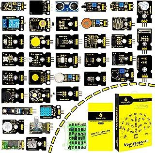 KEYESTUDIO 37 in 1 Sensor Module Starter Kit Learning Kit MCU Education User and PDF Compatible with MEGA, Nano, U&O, Comp...
