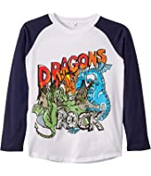 Stella McCartney Kids - Dragons Rock Raglan Long Sleeve T-Shirt (Toddler/Little Kids/Big Kids)