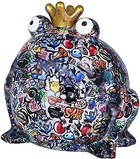 Pomme Pidou skarbonka XXL Bodhi's Giant Freddy | Oryginalna żaba królewska duża graffiti skarbonka w ceramice | pudełko z ...