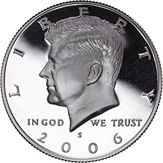 2006 S US Mint Deep Cameo Kennedy Silver Proof Half DCAM