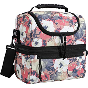 MIER Adult Lunch Box Insulated Lunch Bag Large Cooler Tote Bag for Men, Women, Double Deck Cooler, Anemone, Large
