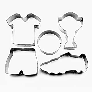 LAWMAN Football soccer shoe jersey pants prize cup fondant pastry baking cookie cutter set