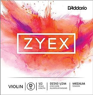 D'Addario Zyex Violin Single D String 1/2 Scale 1/2 Size
