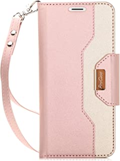 ProCase Galaxy S9 Plus Wallet Case, Flip Kickstand Case with Card Slots Mirror Wristlet, Folding Stand Protective Cover for 6.2 Inch Samsung Galaxy S9+ SM-G965F (2018 Release) -Pink
