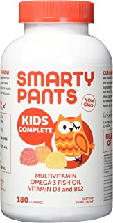 Smarty Pants Kids Complete Multi-Vitamin, 180 Gummies (1)