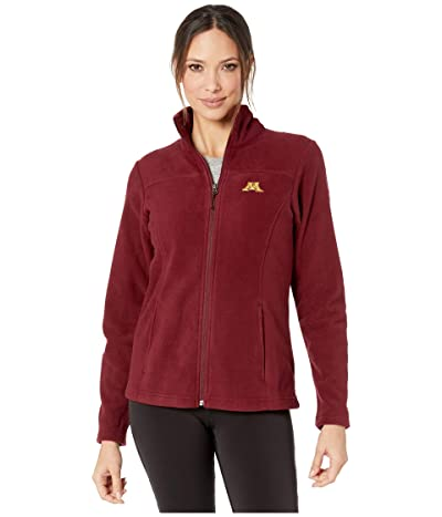 Columbia College Minnesota Golden Gophers CLG Give and Gotm II Full Zip Fleece Jacket (Rich Wine) Women