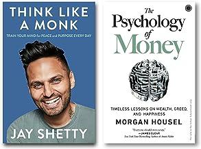 Think Like a Monk + The Psychology of Money (2 Books Mindset Combo with Free Customized Bookmarks)